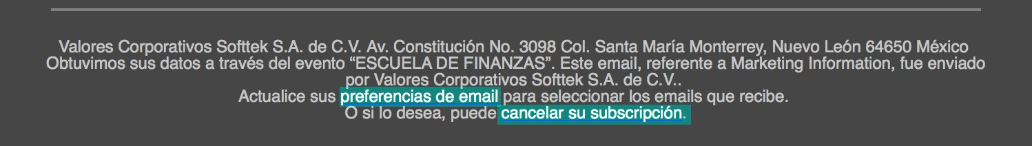 preferencias de email